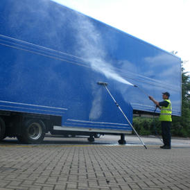 Box curtain trailer cleaning Northampton