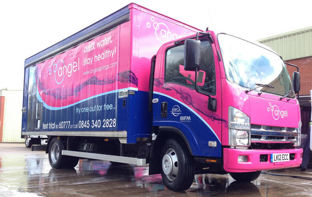 Mobile truck washing
